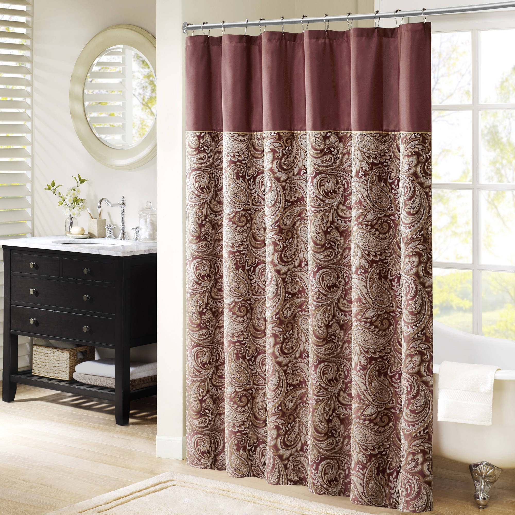 Shower Curtains Walmart Walmart Throughout Peach Colored Curtains (Image 22 of 25)