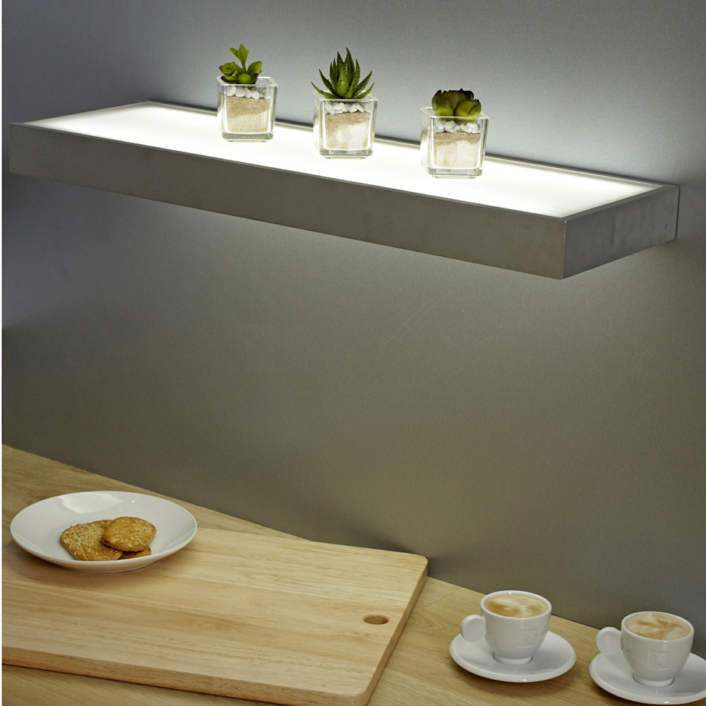 Sirius Led Glass Corner Shelf Light Great Ideas Pinterest With Led Floating Shelves (Image 15 of 15)