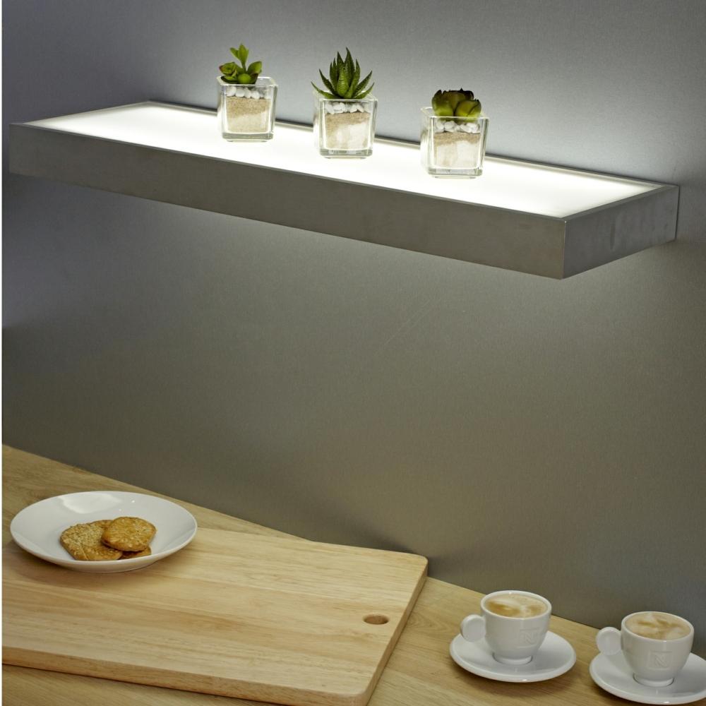 Sirius Led Glass Corner Shelf Light Great Ideas Pinterest With Led Floating Shelves (View 14 of 15)