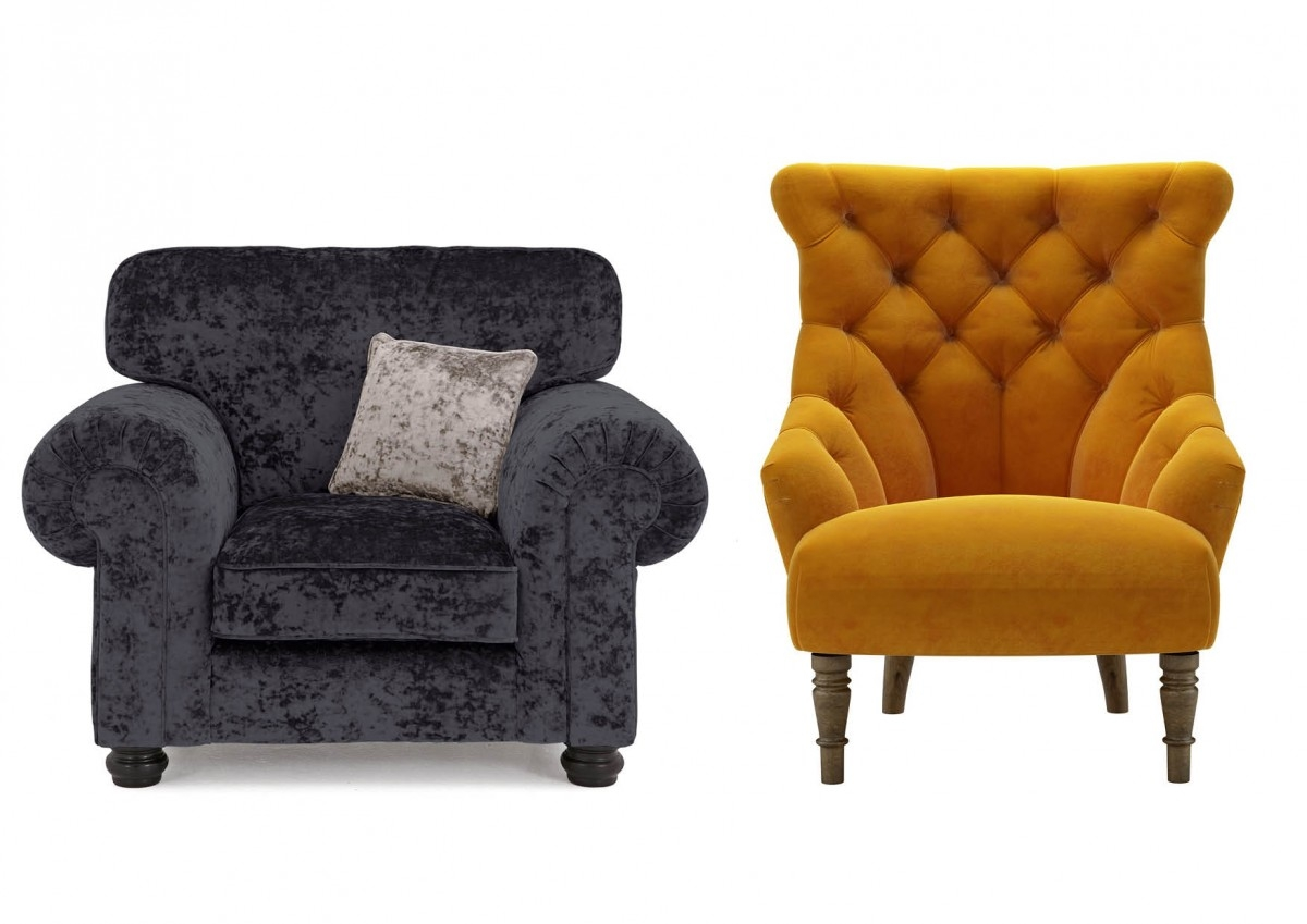 Six Of The Best Autumnal Armchairs Homes And Antiques Regarding Fabric Armchairs (Image 15 of 15)