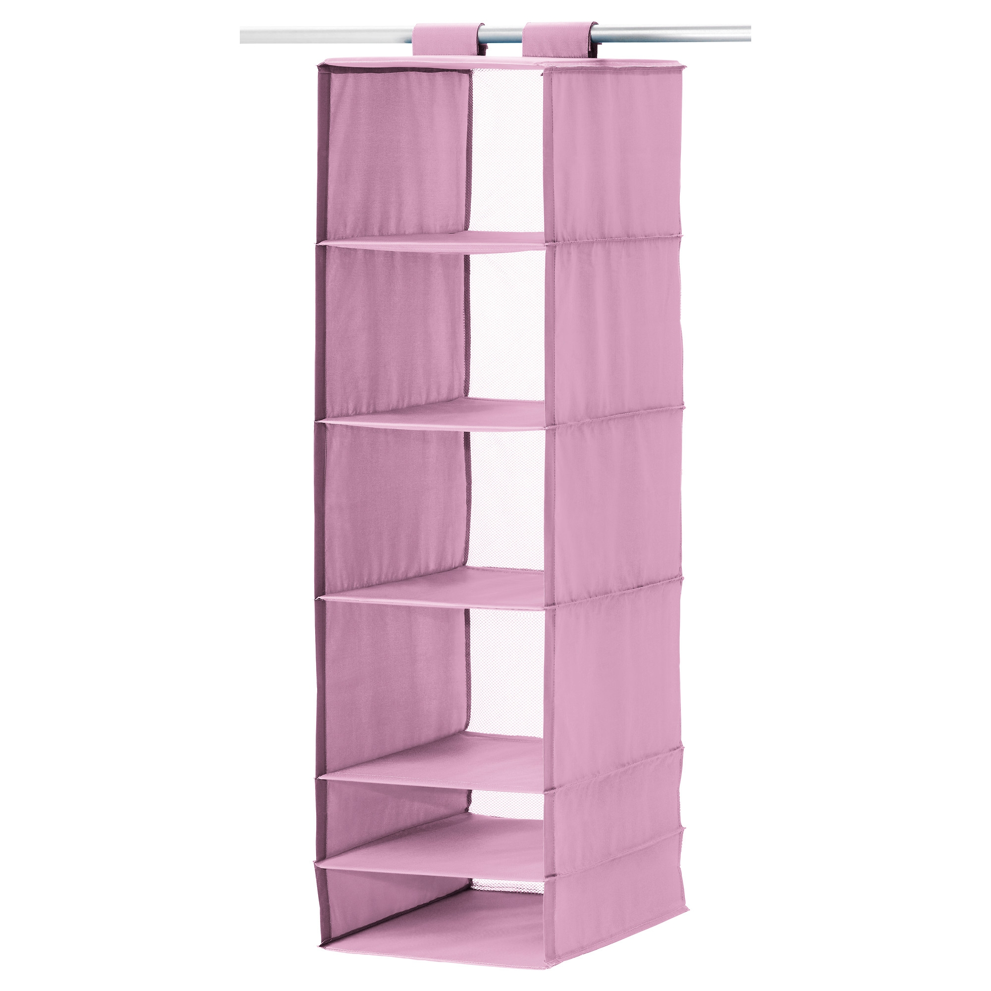 Skubb Storage With 6 Compartments Pink Ikea Weens Room Inside Hanging Wardrobe Shelves (Image 19 of 25)