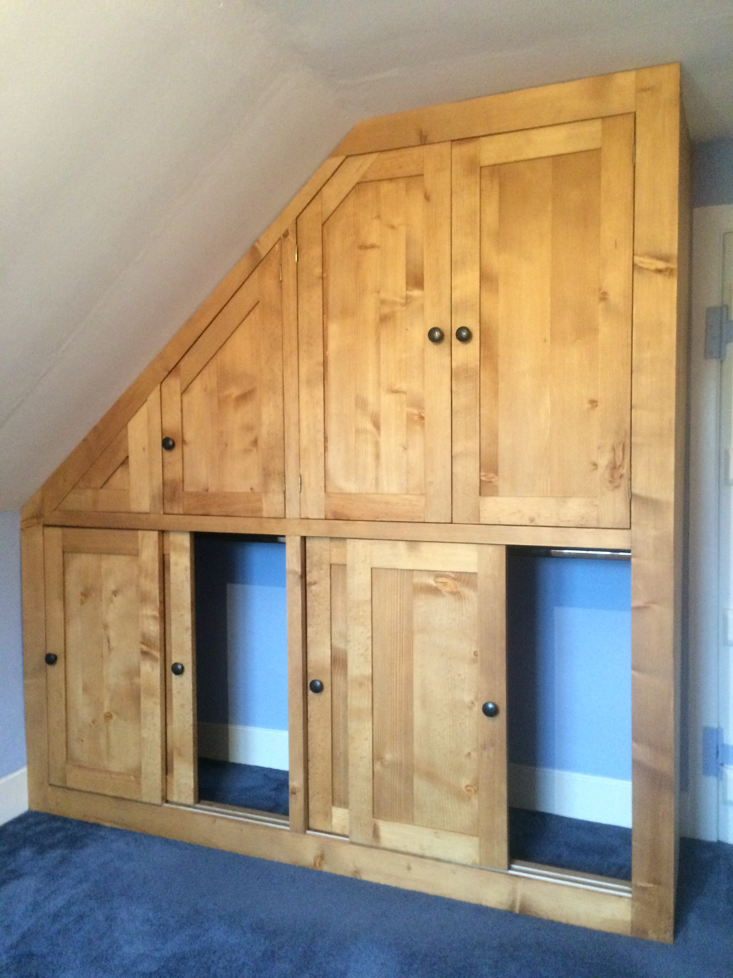 Sliding Doors In This Bespoke Solid Wood Fitted Wardrobe Built Inside Solid Wood Fitted Wardrobes (Image 9 of 15)