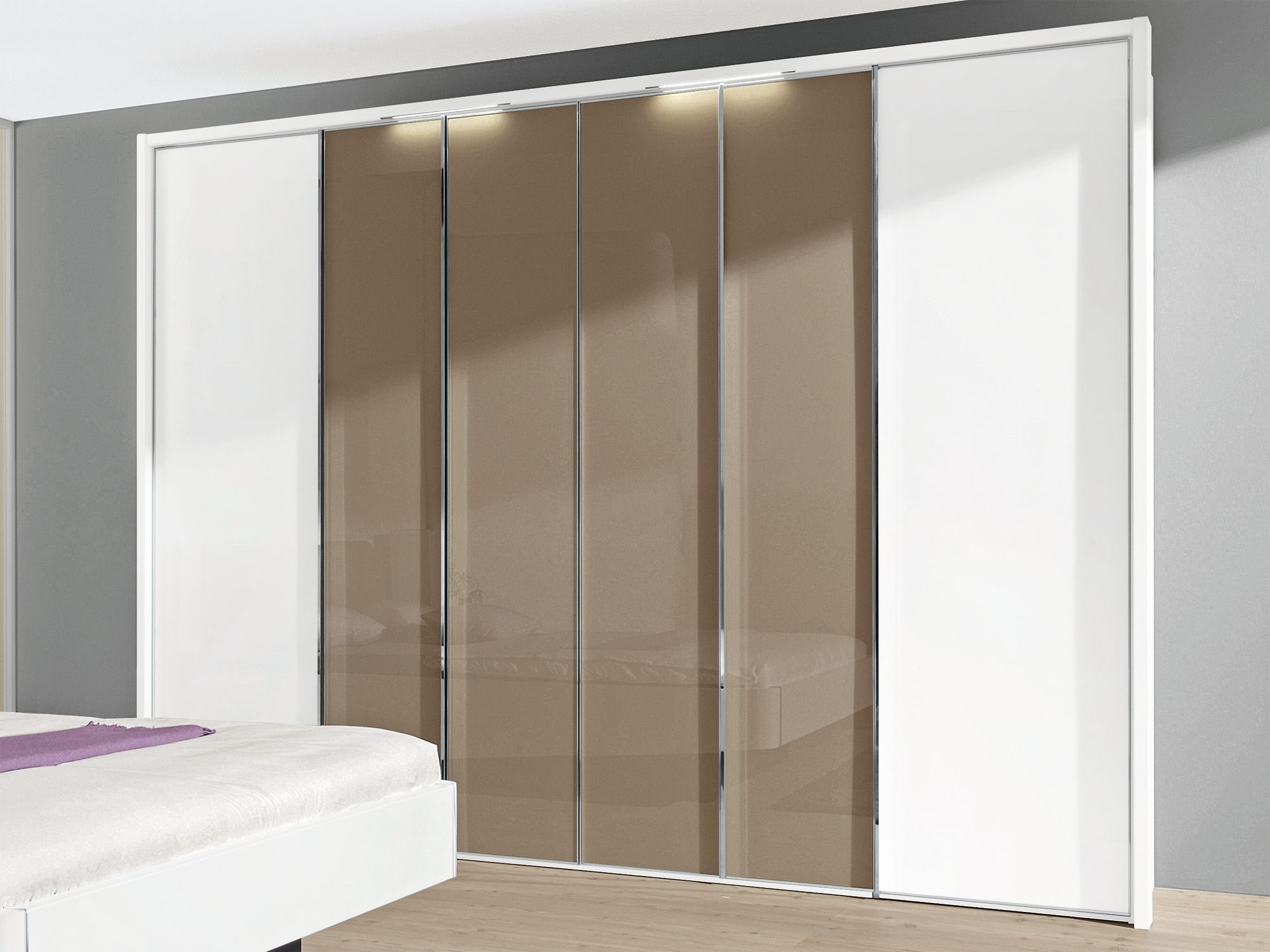 Sliding Doors Inside Folding Door Wardrobes (View 14 of 25)