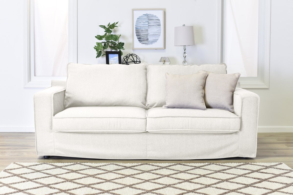 Slipcovered Sofas Youll Love Wayfair Within Sofa With Removable Cover (Image 10 of 15)