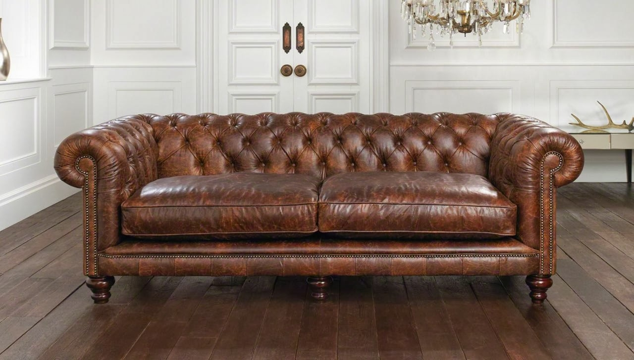 Small Brown Leather Chesterfield Sofa Modern Sofas Regarding Small Chesterfield Sofas (Image 8 of 15)