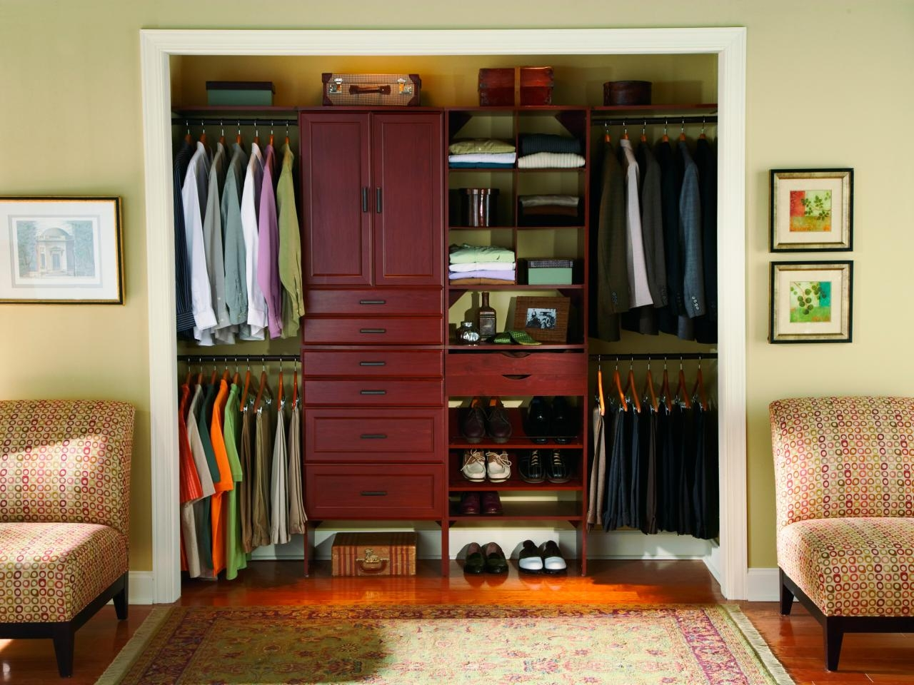 Small Closet Organization Ideas Pictures Options Tips Hgtv Regarding Bedroom Wardrobe Storages (View 17 of 25)