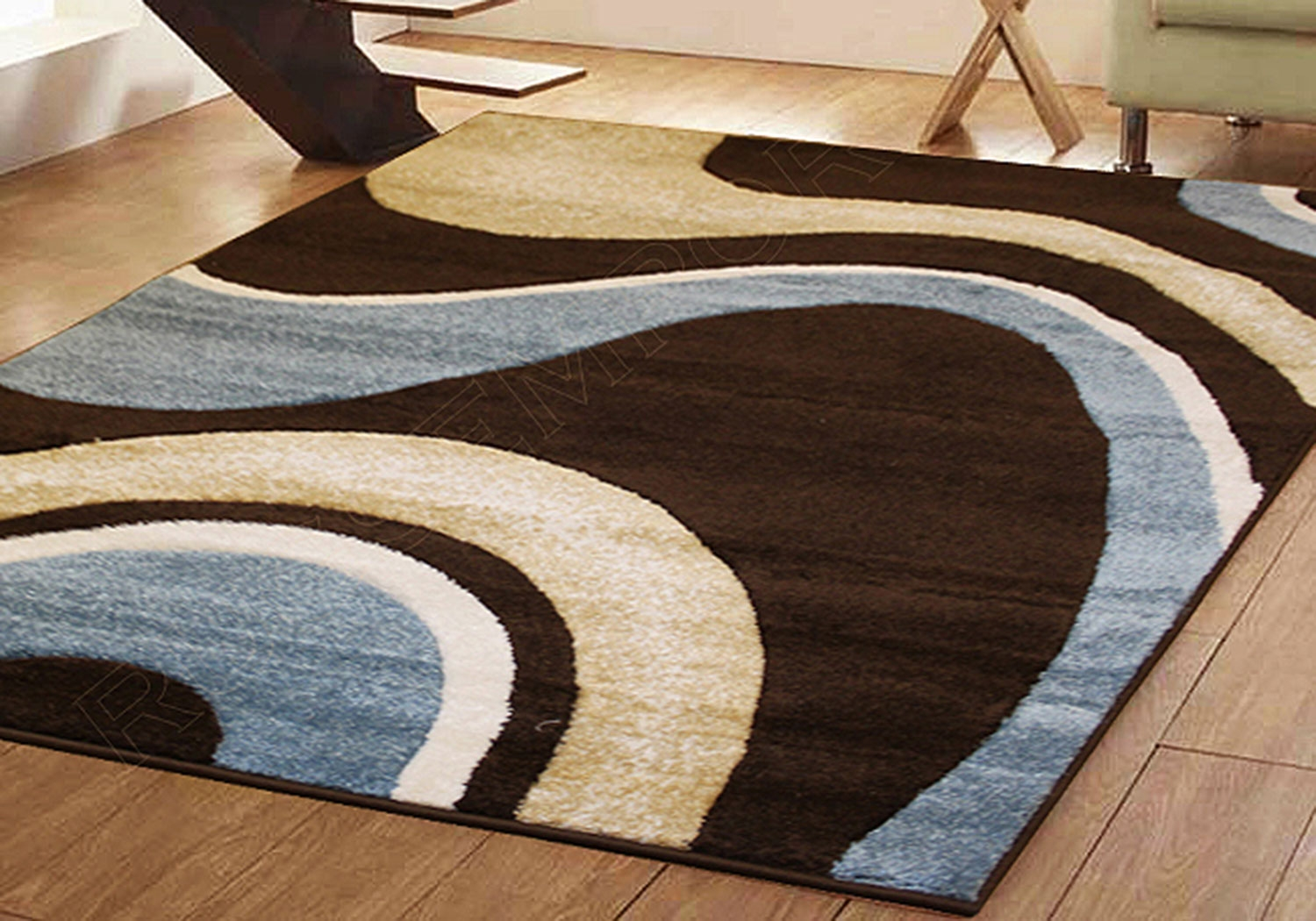 Small Extra Large Modern Brown Blue Green Red Swirl Design Inside Carpet Rugs (Image 14 of 15)
