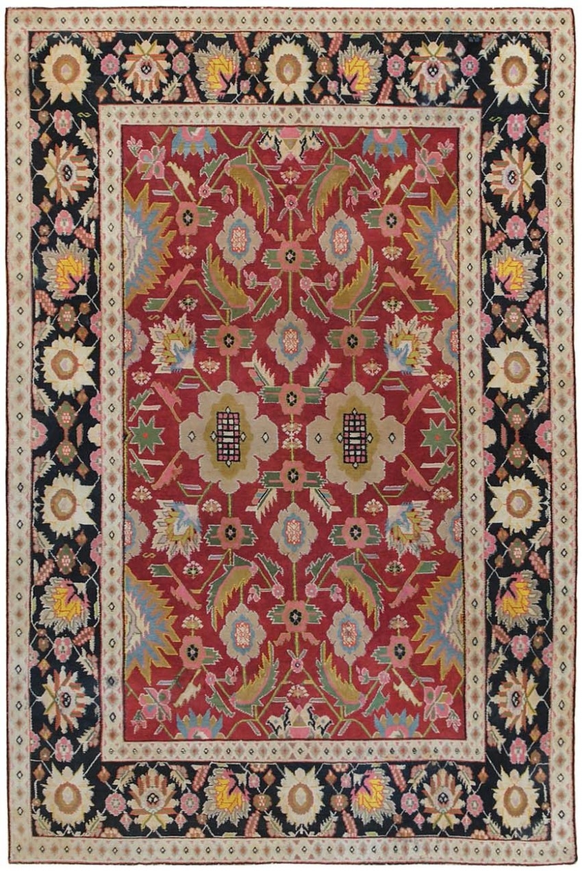 Small Scatter Size Jewel Tone Antique Cotton Agra Rug 44380 Nazmiyal With Agra Rugs (Image 15 of 15)