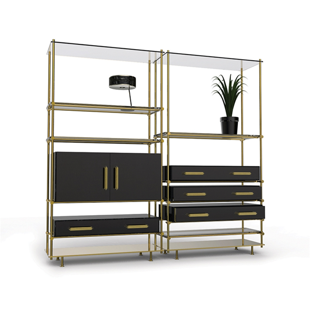 Smoked Glass Shelves And Glossy Black Drawers Create Mulligan Pertaining To Smoked Glass Shelves (Image 12 of 15)