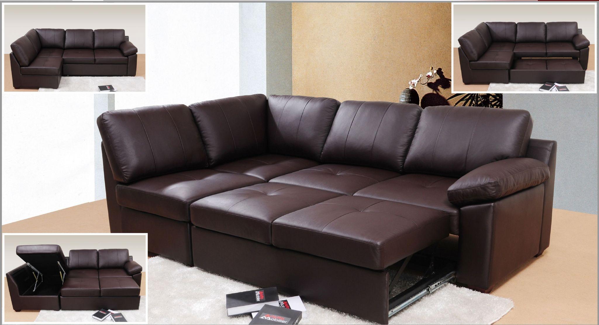 Sofa Bed Leather Corner Tehranmix Decoration In Leather Corner Sofa Bed (Image 13 of 15)