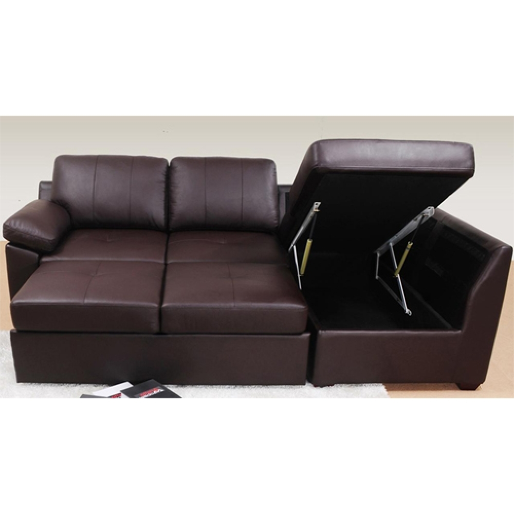 Sofa Bed Leather Corner Tehranmix Decoration Pertaining To Leather Corner Sofa Bed (Image 14 of 15)