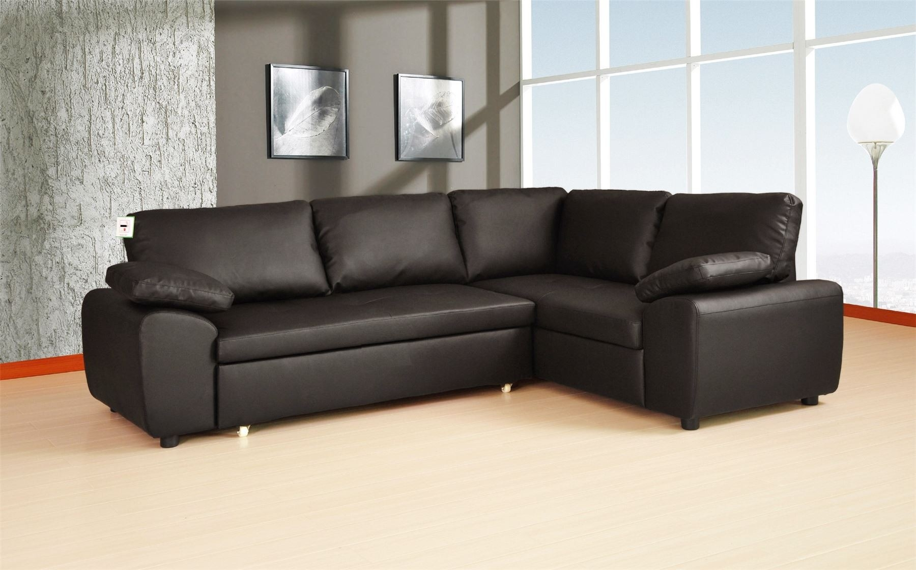 Sofa Bed Leather Corner Tehranmix Decoration With Regard To Leather Corner Sofa Bed (Image 15 of 15)