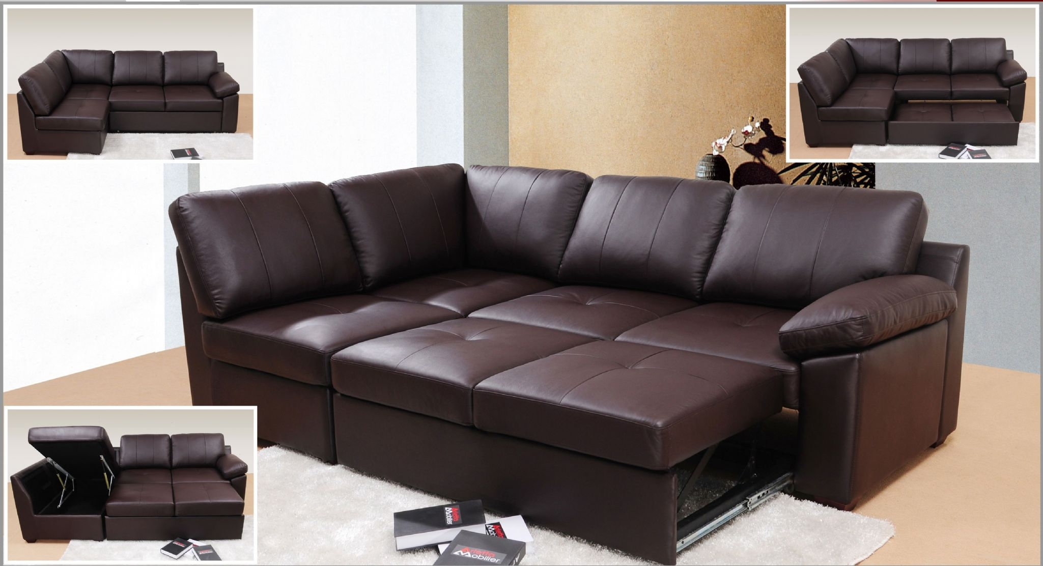 Sofa Bed Leather Corner Tehranmix Decoration Within Cheap Corner Sofa Beds (Image 11 of 15)
