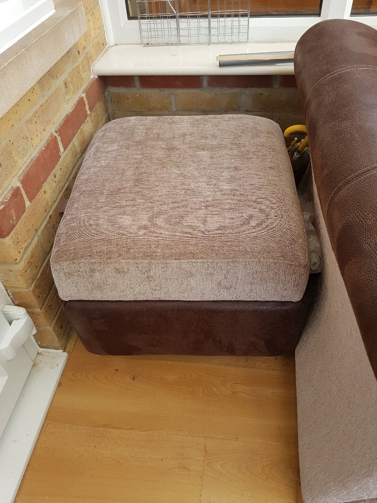 Sofa Bed With Footstoolpouffe In Braintree Essex Gumtree Regarding Footstool Pouffe Sofa Folding Bed (Image 12 of 15)