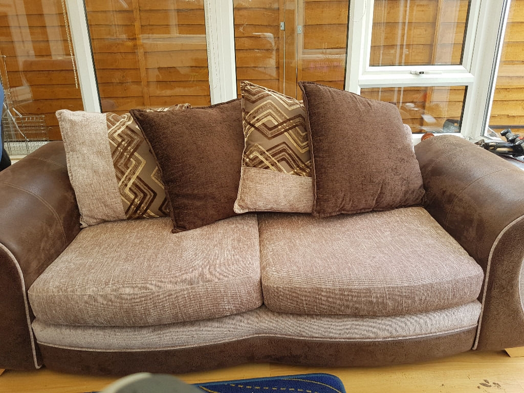 Sofa Bed With Footstoolpouffe In Braintree Essex Gumtree Regarding Footstool Pouffe Sofa Folding Bed (Image 11 of 15)