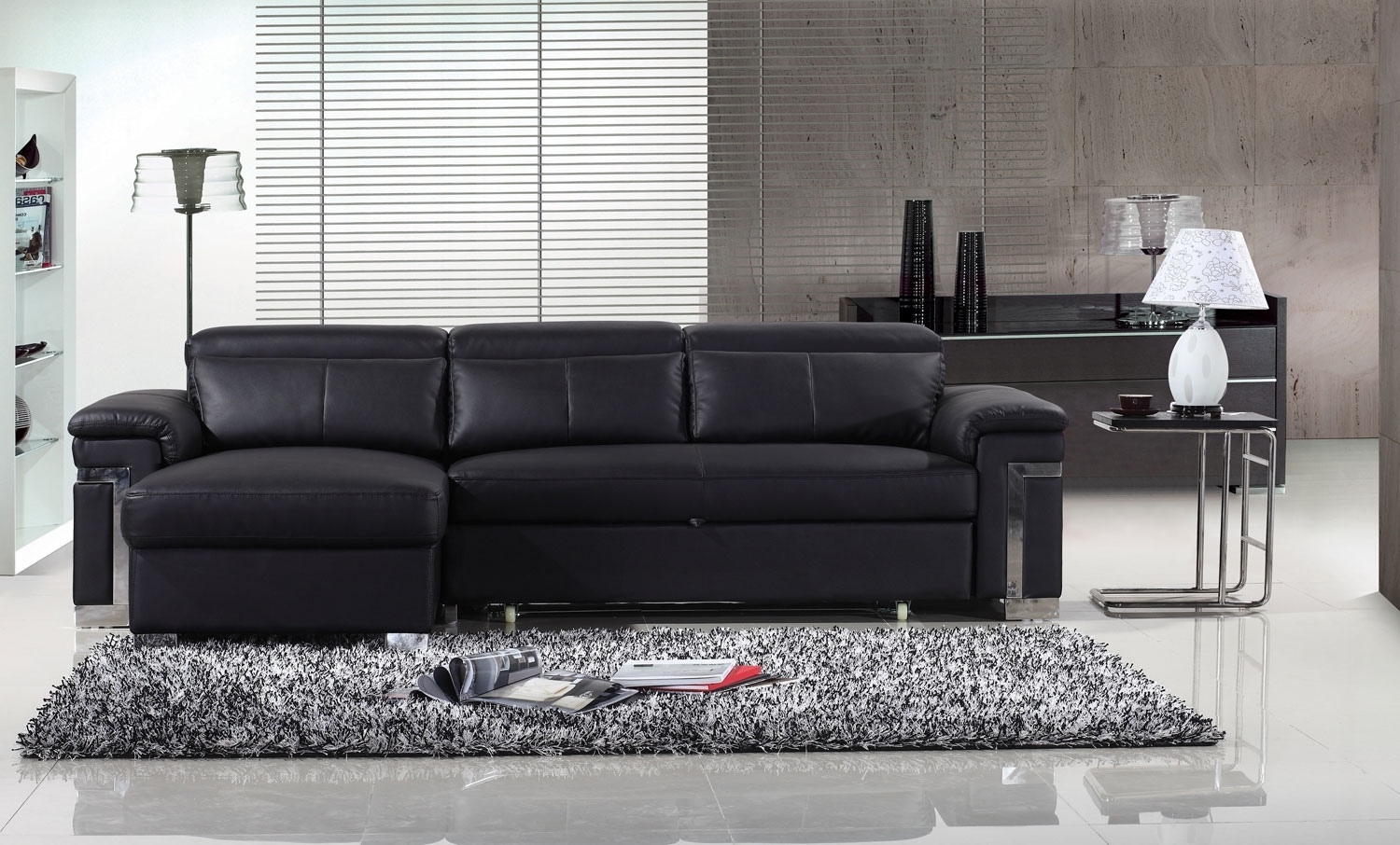 Sofa Black Leather Silo Christmas Tree Farm Intended For 3 Seater Leather Sofas (Image 11 of 15)