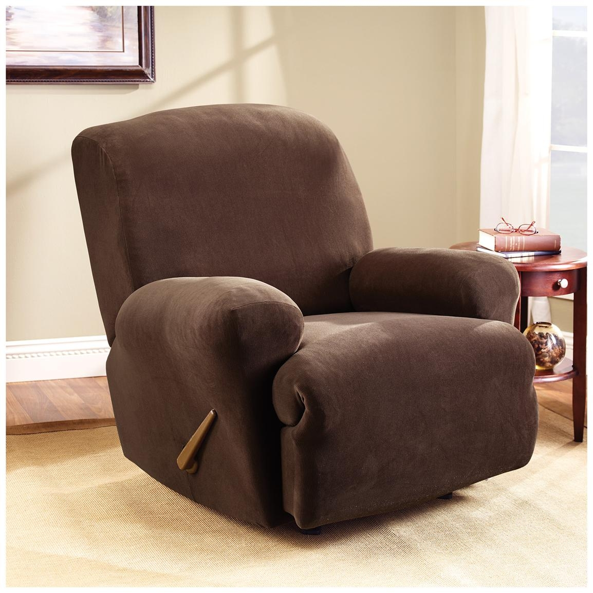 Sofa Recliner Sure Fit Recliner Covers For Easy Stretch And With Sofa And Chair Covers (Image 10 of 15)