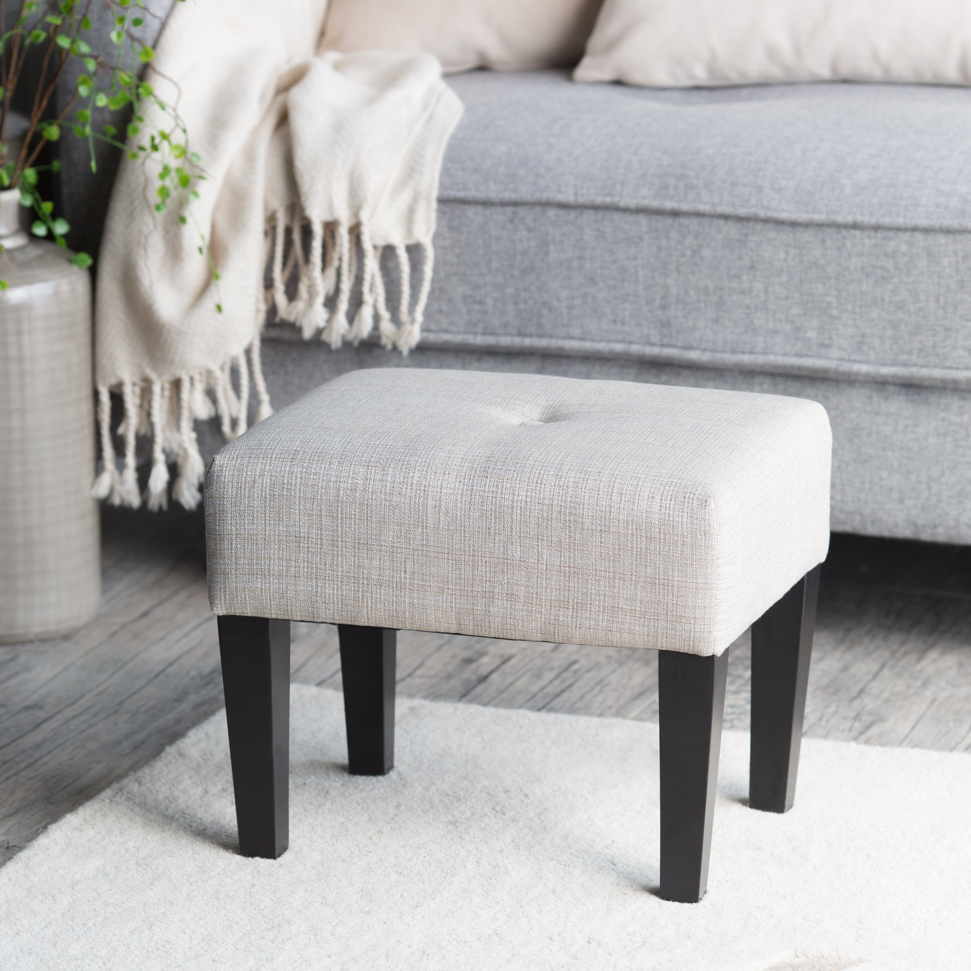Sofa Small Upholstered Footstool Footstools With Casters Uk White With Upholstered Footstools (Image 12 of 15)