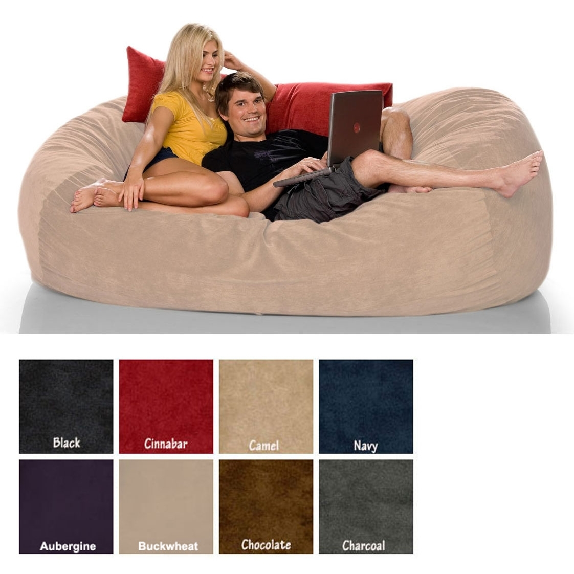 Sofas Center Faux Suede Sofabed Brn 1500x1500ofaack Bean Bag With Bean Bag Sofas And Chairs (Image 13 of 15)