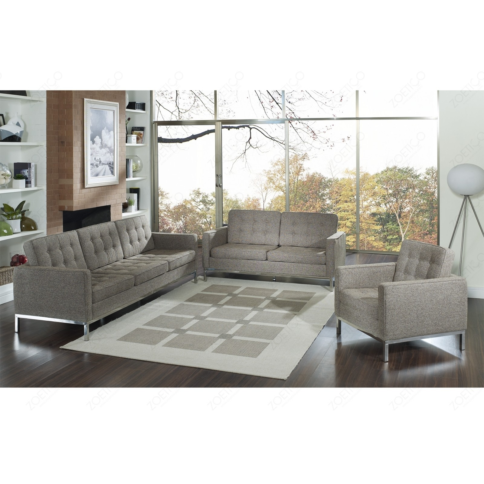 Sofas Center Florence Knoll Sofa Comfort Reproduction Reviews Regarding Florence Knoll Fabric Sofas (Image 12 of 15)