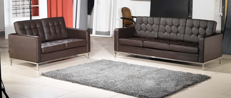 15 photos florence knoll leather sofas sofa ideas. Black Bedroom Furniture Sets. Home Design Ideas
