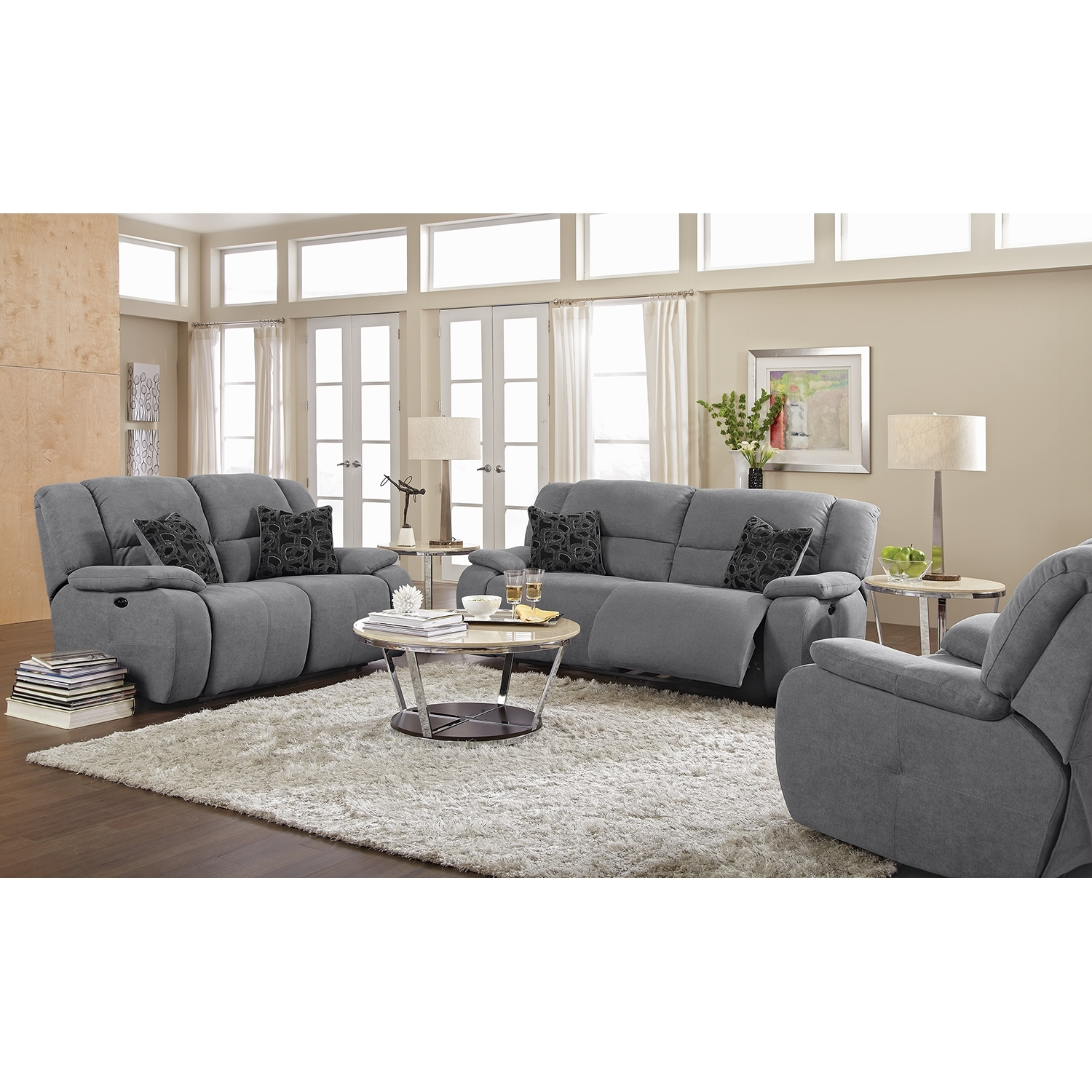 Sofas Center Gray Reclining Sofa Newport Piece Power Value City With Regard To Newport Sofas (Image 14 of 15)