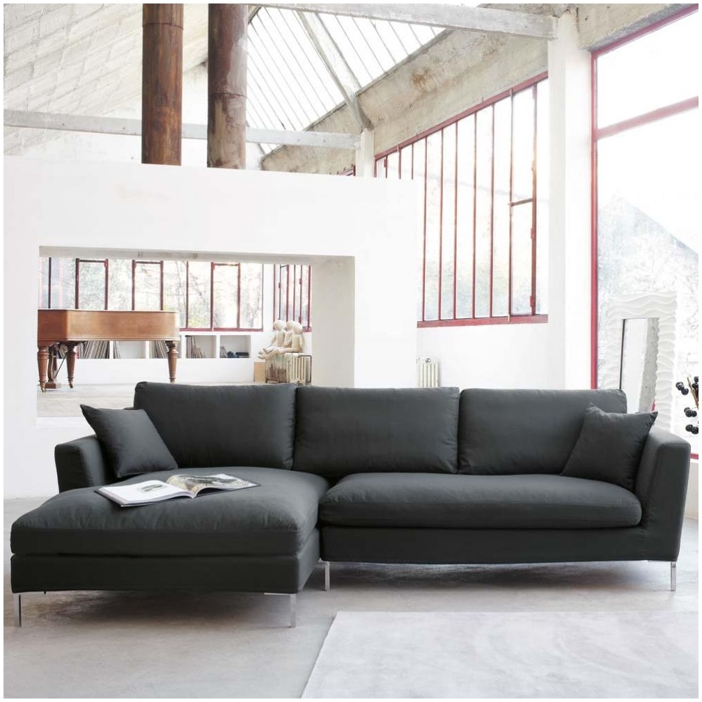 Sofas Center Grey Leather Sofa Decorating Ideas Gray Decor With Regard To Charcoal Grey Sofa (Image 13 of 15)