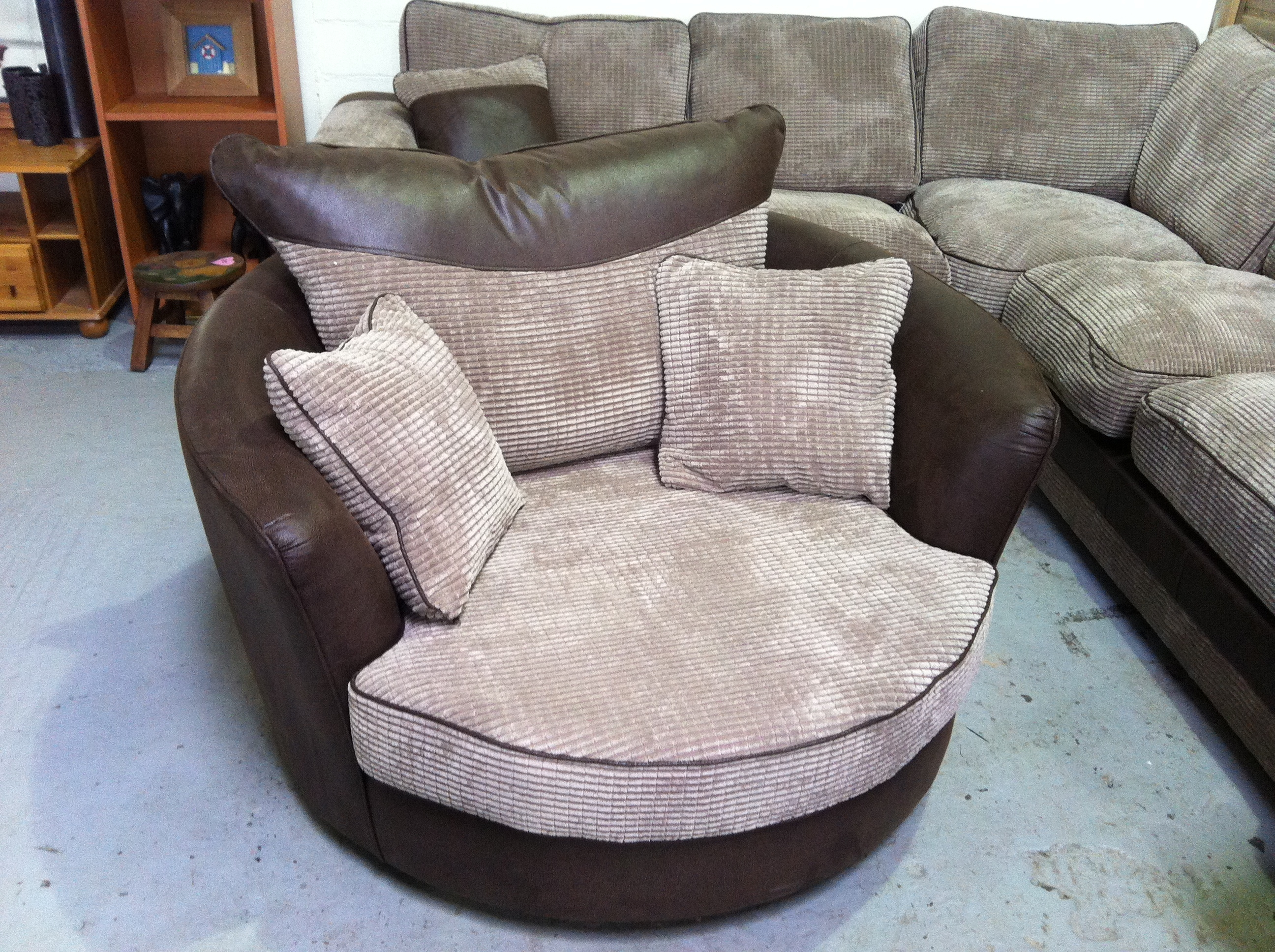 Sofas Center Swivel Sofa Chair And Setround Chairsofa Set Round Inside Sofa With Swivel Chair (Image 13 of 15)