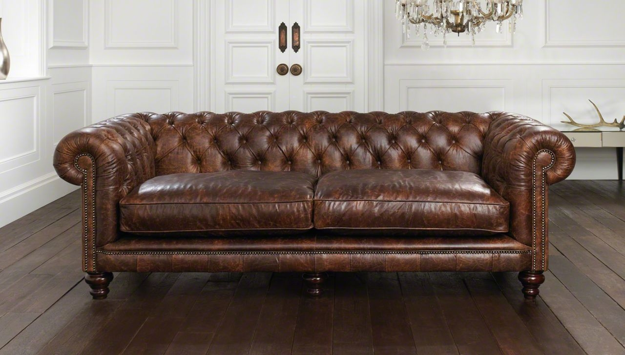 Sofas Center Vintage Leather Chesterfield Sofa Fantastic Images Intended For Vintage Chesterfield Sofas (Image 7 of 15)