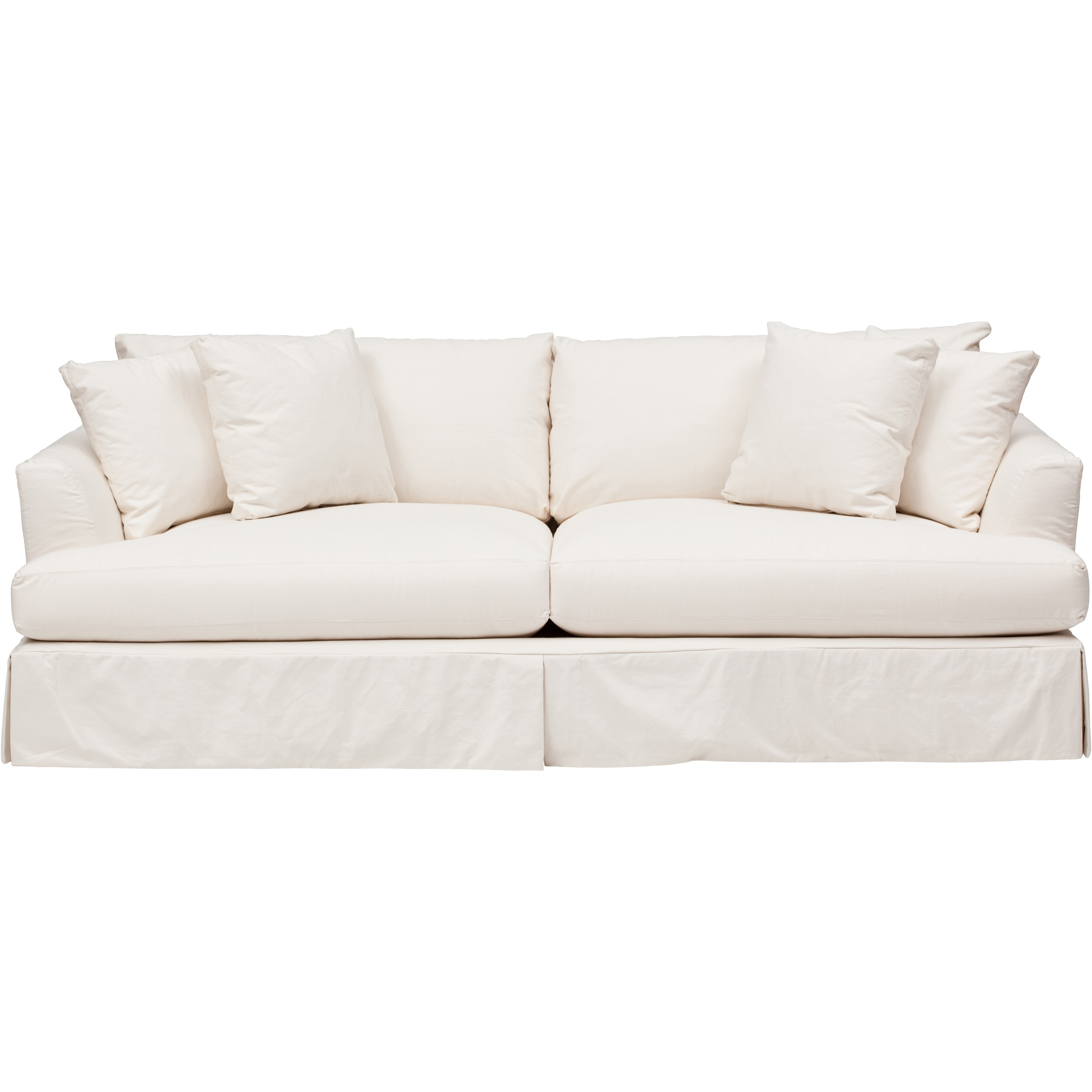 Sofas Center White Slipcovers For Sofa Namur Herringbone Ivory Intended For Slipcovers For Sofas And Chairs (Image 15 of 15)