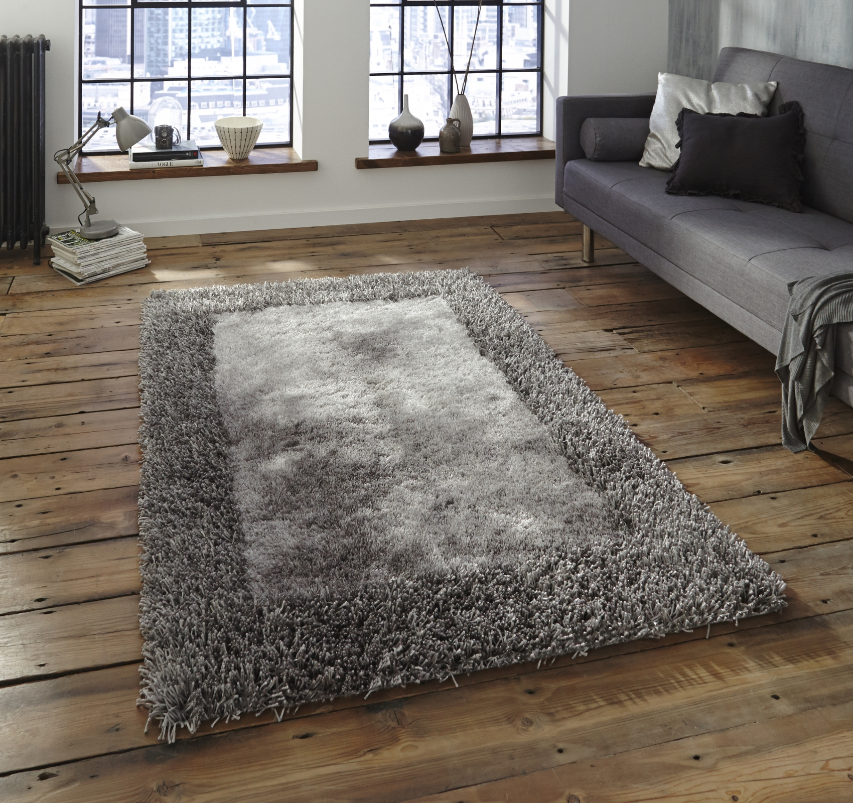 Soft Sable Shaggy Pile Rug Hand Tufted Rectangle Design Floor Mat Pertaining To Thick Rugs (Image 6 of 15)