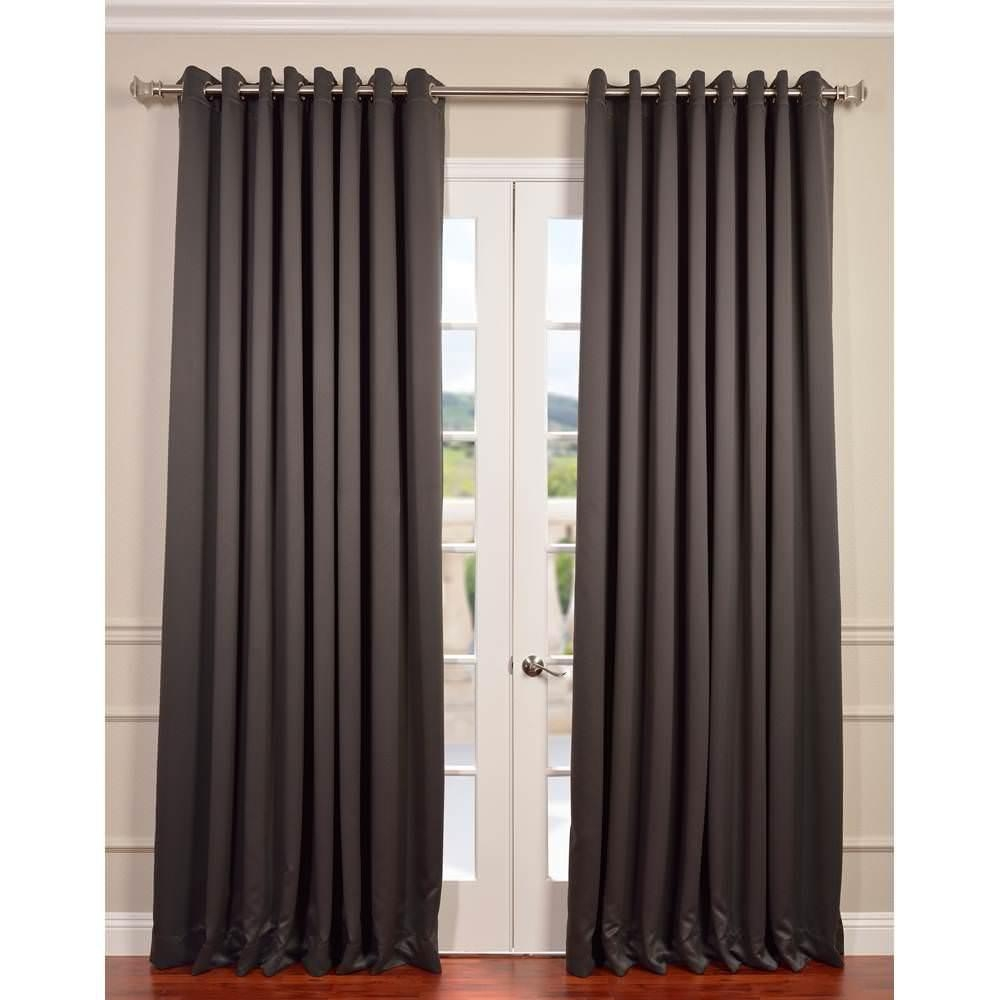 Solaris Grey Faux Suede Grommet Curtain 1 Panel 1627811 The Throughout Faux Suede Curtain Panels (Image 21 of 25)