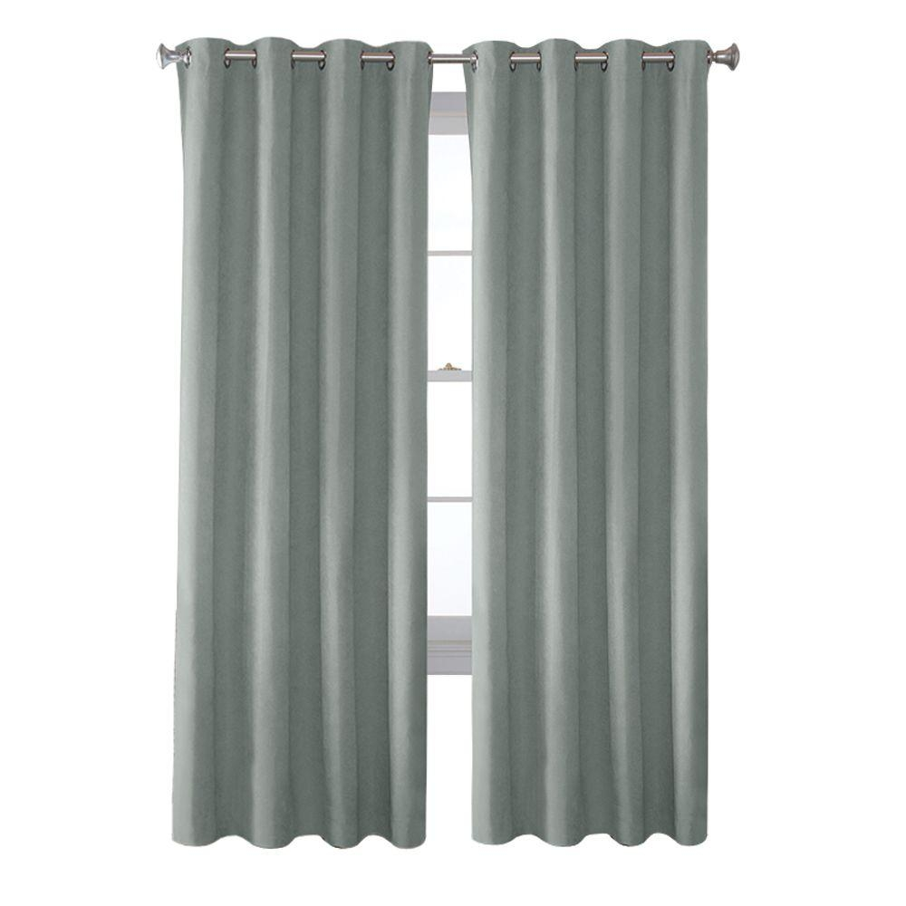 Solaris Mist Faux Suede Grommet Curtain 1 Panel 1627819 The Regarding Faux Suede Curtain Panels (Image 22 of 25)