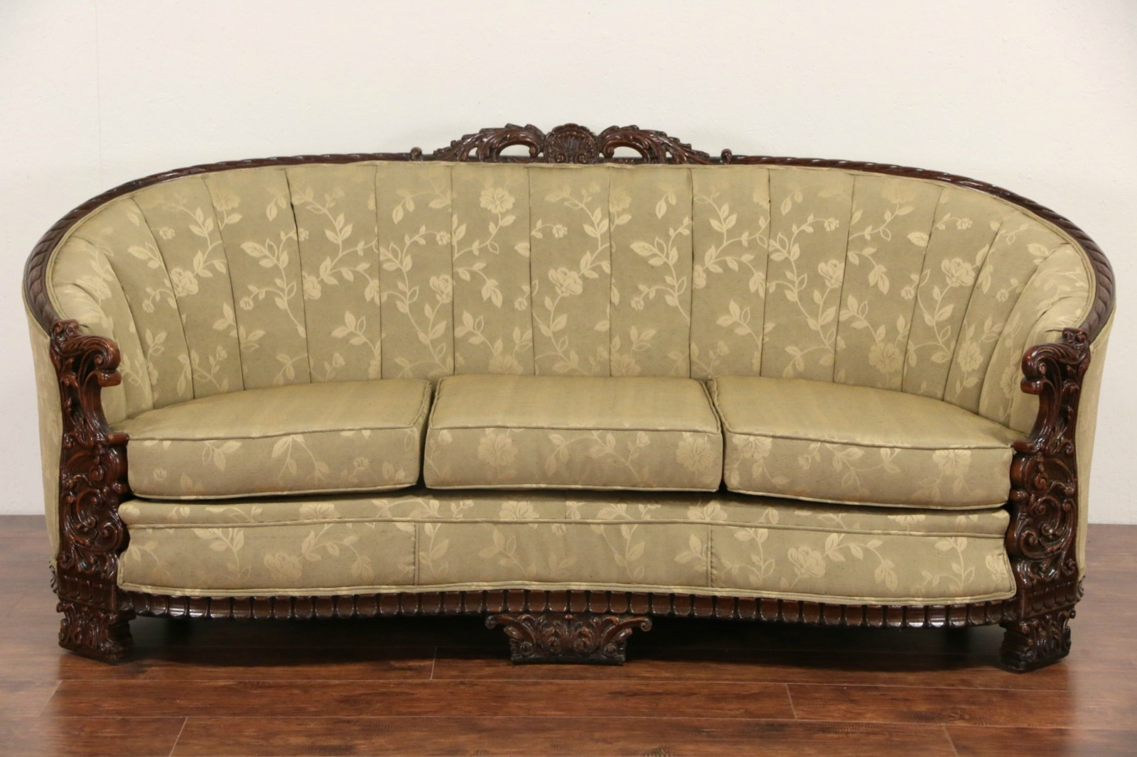 Sold Carved Sofa Club Chair Set 1930s Vintage New Inside 1930s Sofas (Image 10 of 15)