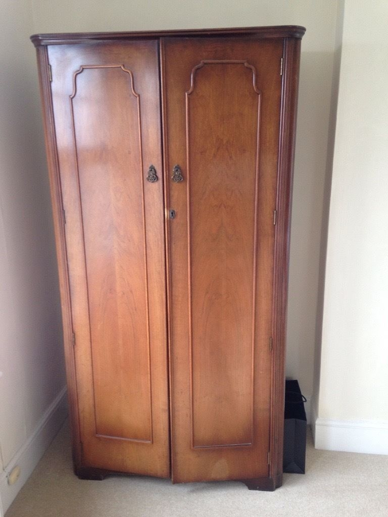 Solid Dark Wood Wardrobe In Gloucester Gloucestershire Gumtree Throughout Solid Dark Wood Wardrobes (Image 12 of 15)