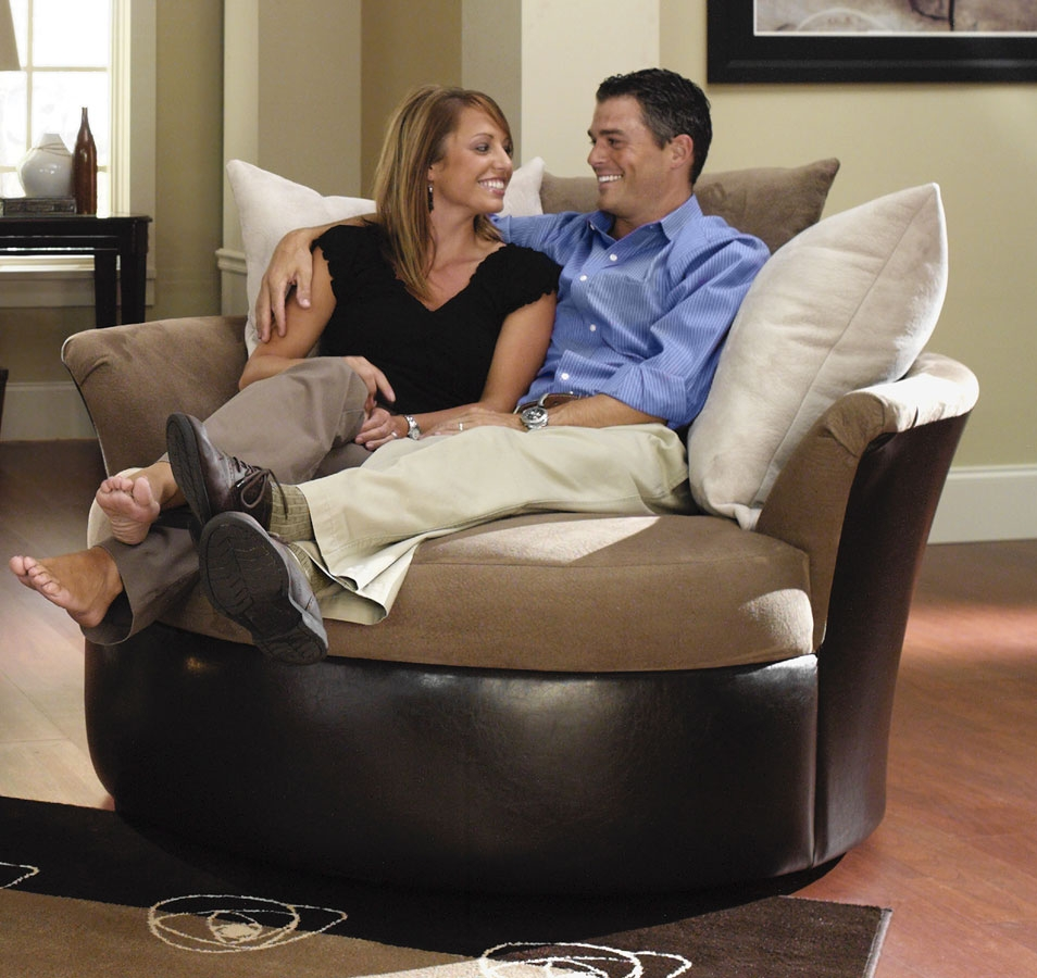 Sonoma Cuddler Swivel Chair Jackson Furniture For The Home With Cuddler Swivel Sofa Chairs (Image 14 of 15)