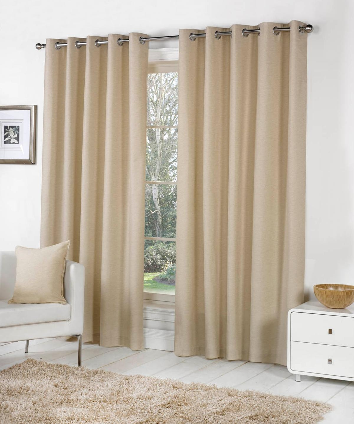 Sorbonne Eyelet Curtains In Natural Free Uk Delivery Terrys Inside Brown Eyelet Curtains (Image 21 of 25)