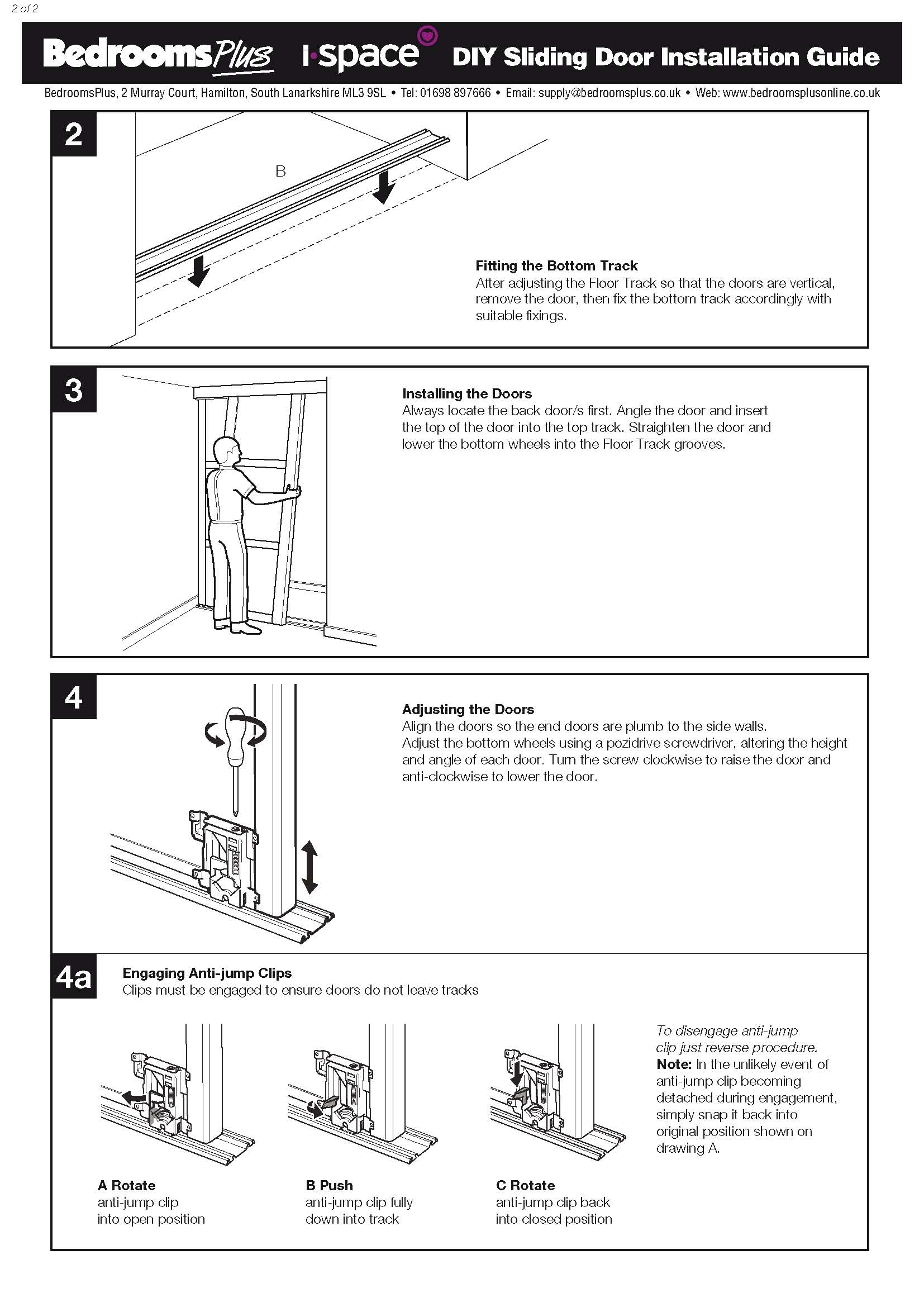 Spacepro Stanley Sliding Wardrobe Doors Spare Parts And In Fitted Wardrobe Depth (View 15 of 15)