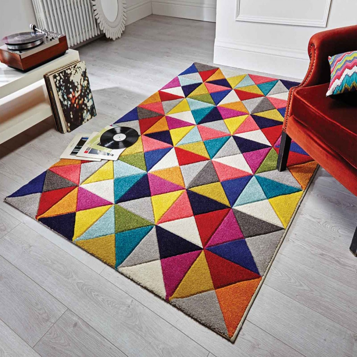 Spectrum Samba Multicoloured Rug Flair Rugs Therugshopuk Pertaining To Flair Rugs (Image 15 of 15)