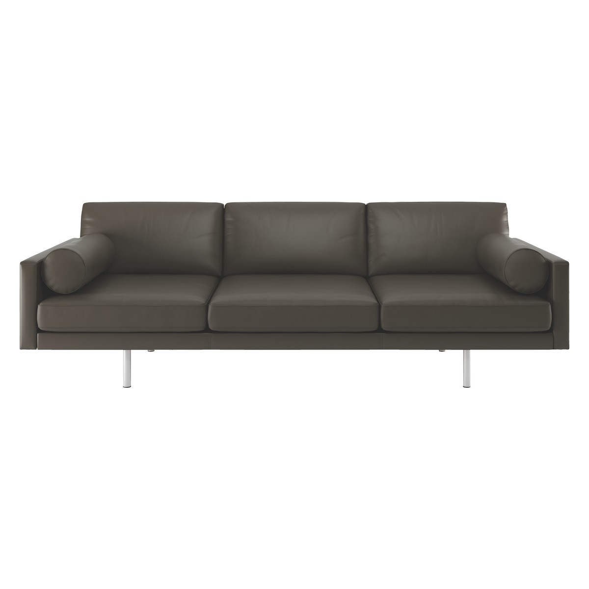 Spencer Grey Leather 4 Seater Sofa Metal Legs Buy Now At Habitat Uk With Regard To 4 Seater Sofas (View 2 of 15)