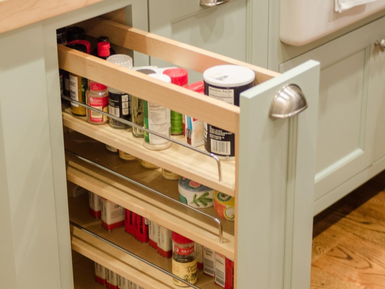 Spice Racks For Kitchen Cabinets Pictures Options Tips Ideas Regarding Storage Racks For Kitchen Cupboards (View 3 of 25)