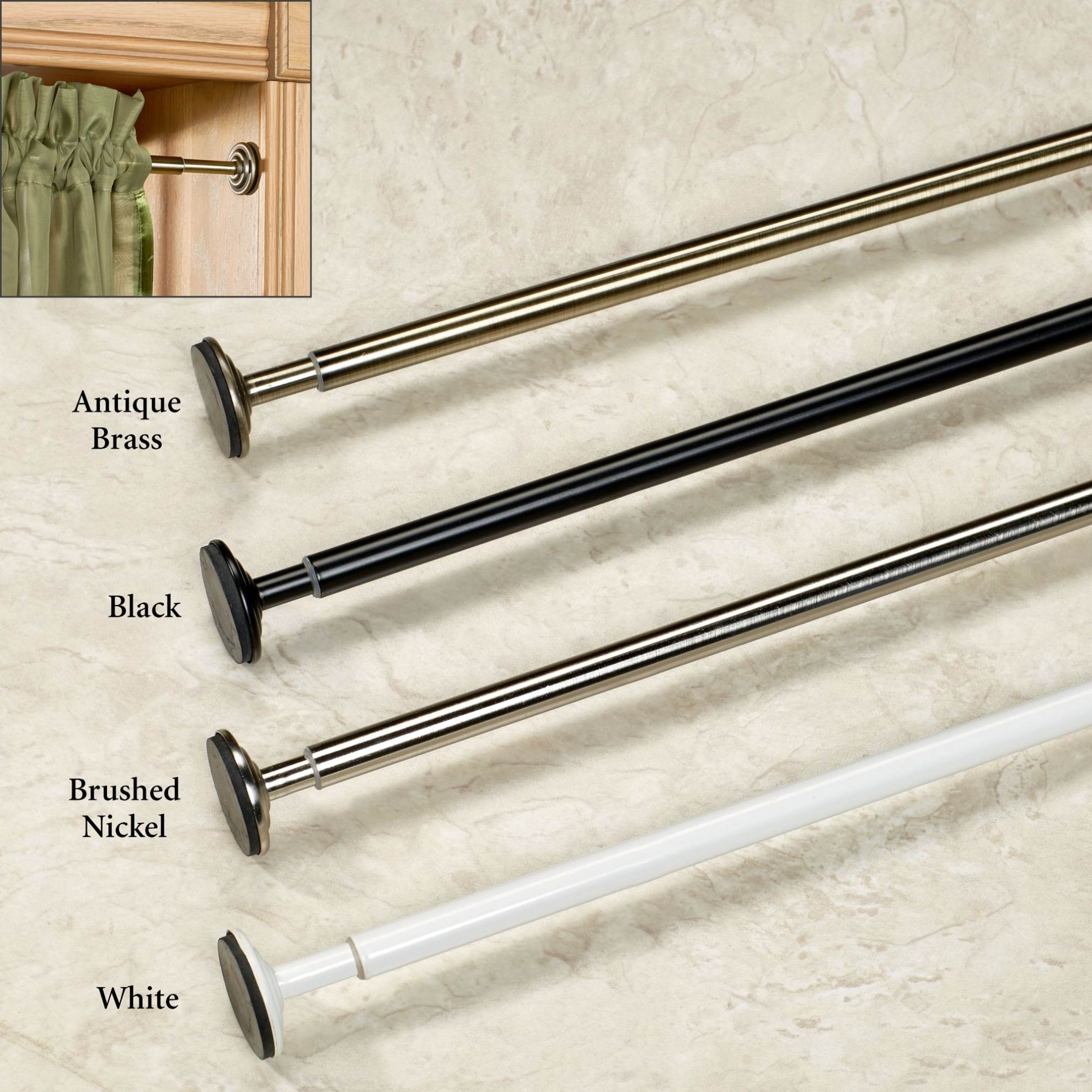 Spring Tension Curtain Rod For The Right Choice Mccurtaincounty Inside Spring Loaded Curtain Poles (View 3 of 25)