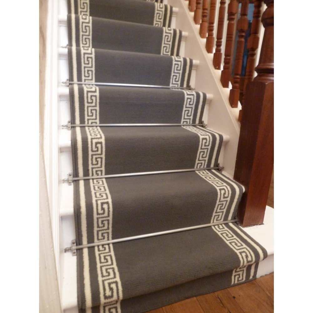 Stair Carpet Runners Ideas John Robinson House Decor Regarding Stair Tread Carpet Rods (Image 13 of 15)
