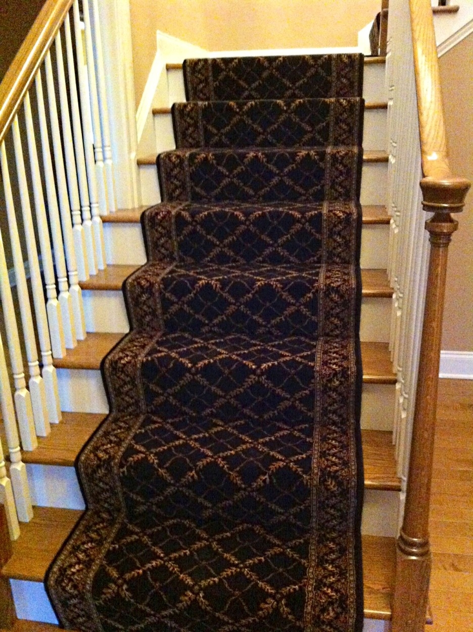 Stair Gorgeous Stair Design With Oak Treads Combine With Brown Throughout Brown Stair Treads (Image 9 of 15)