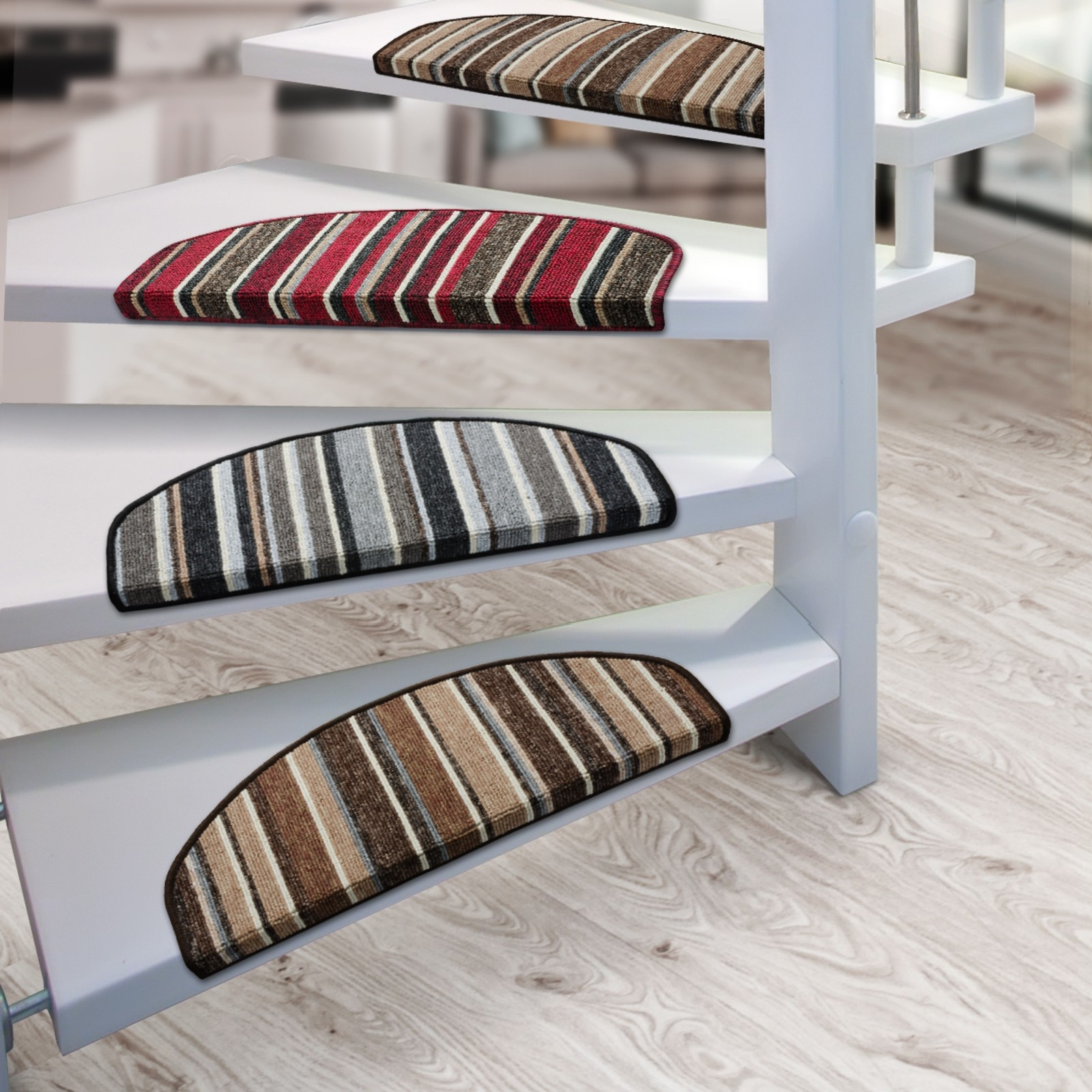 Stair Mats Broadway Semicircular 3 Colours Available In Traction Pads For Stairs (Image 14 of 15)