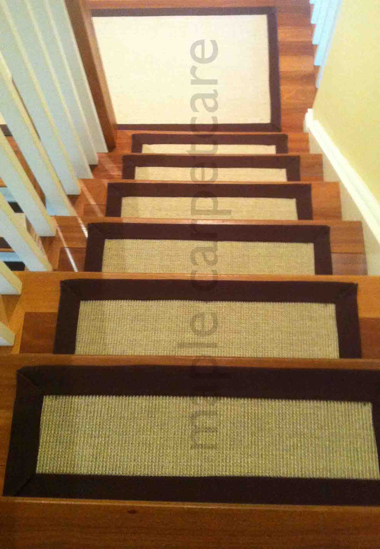 Stair Rugs Rugs For Runners On Stairs Sisal Carpet Laid As Runner Throughout Diy Stair Tread Rugs (View 5 of 15)