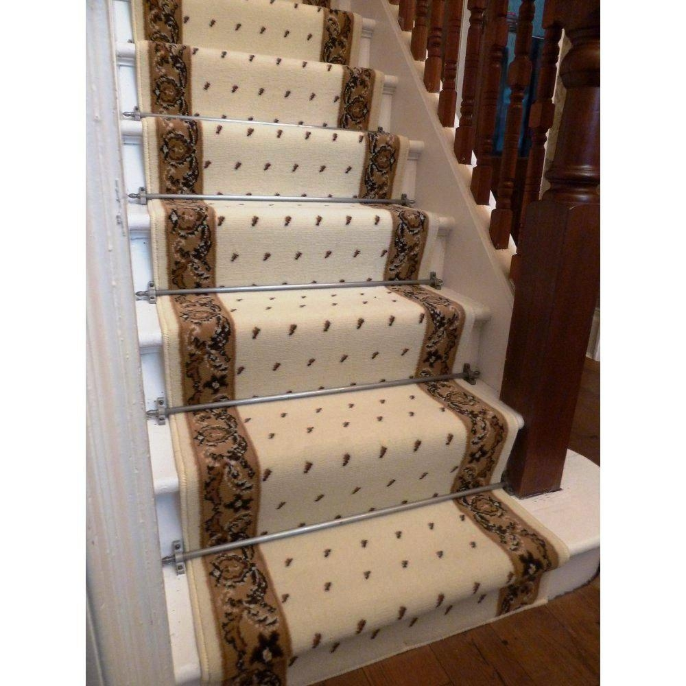 Stair Rugs Rugs For Runners On Stairs Sisal Carpet Laid As Runner Within Stair Tread Carpet Bars (Image 15 of 15)