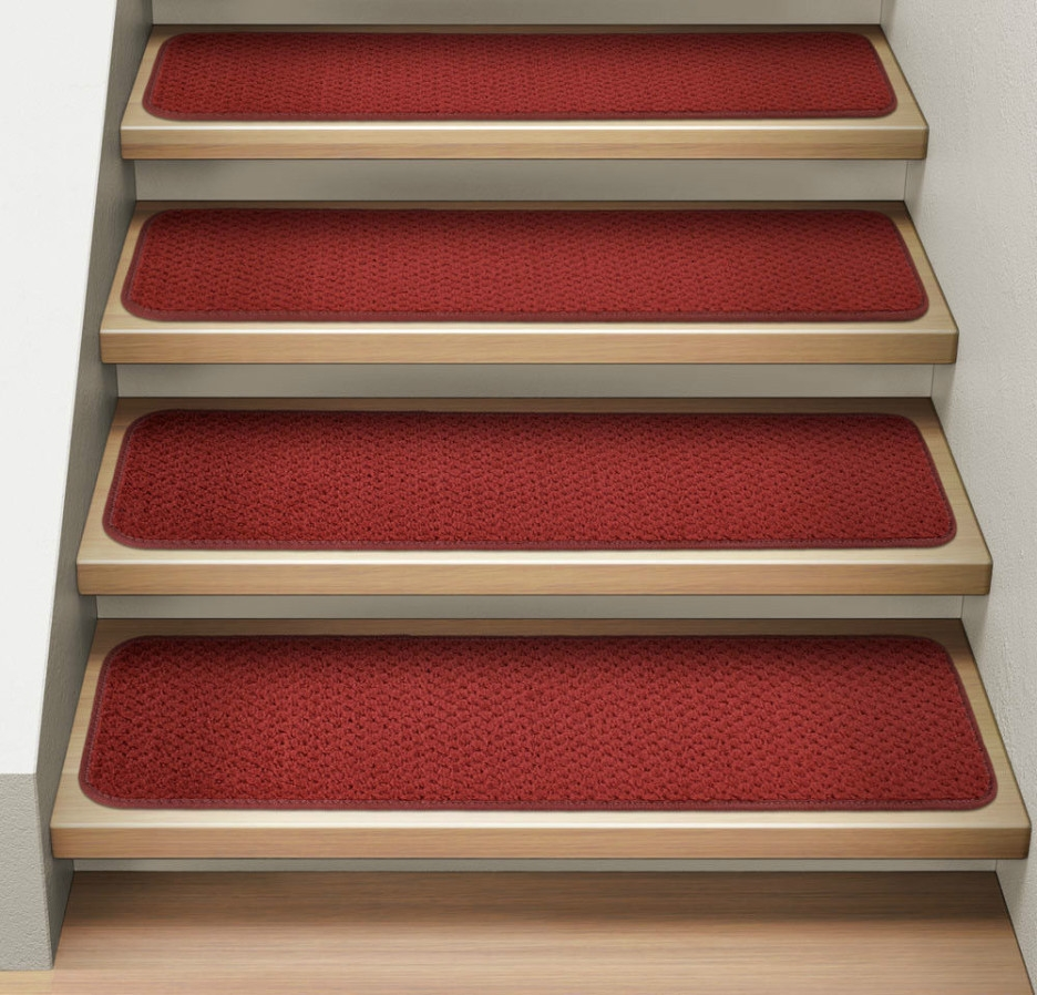 Stair Stair Tread Carpet Mats Benefits Carpet Runners For Throughout Stair Tread Rug Covers (Image 11 of 15)