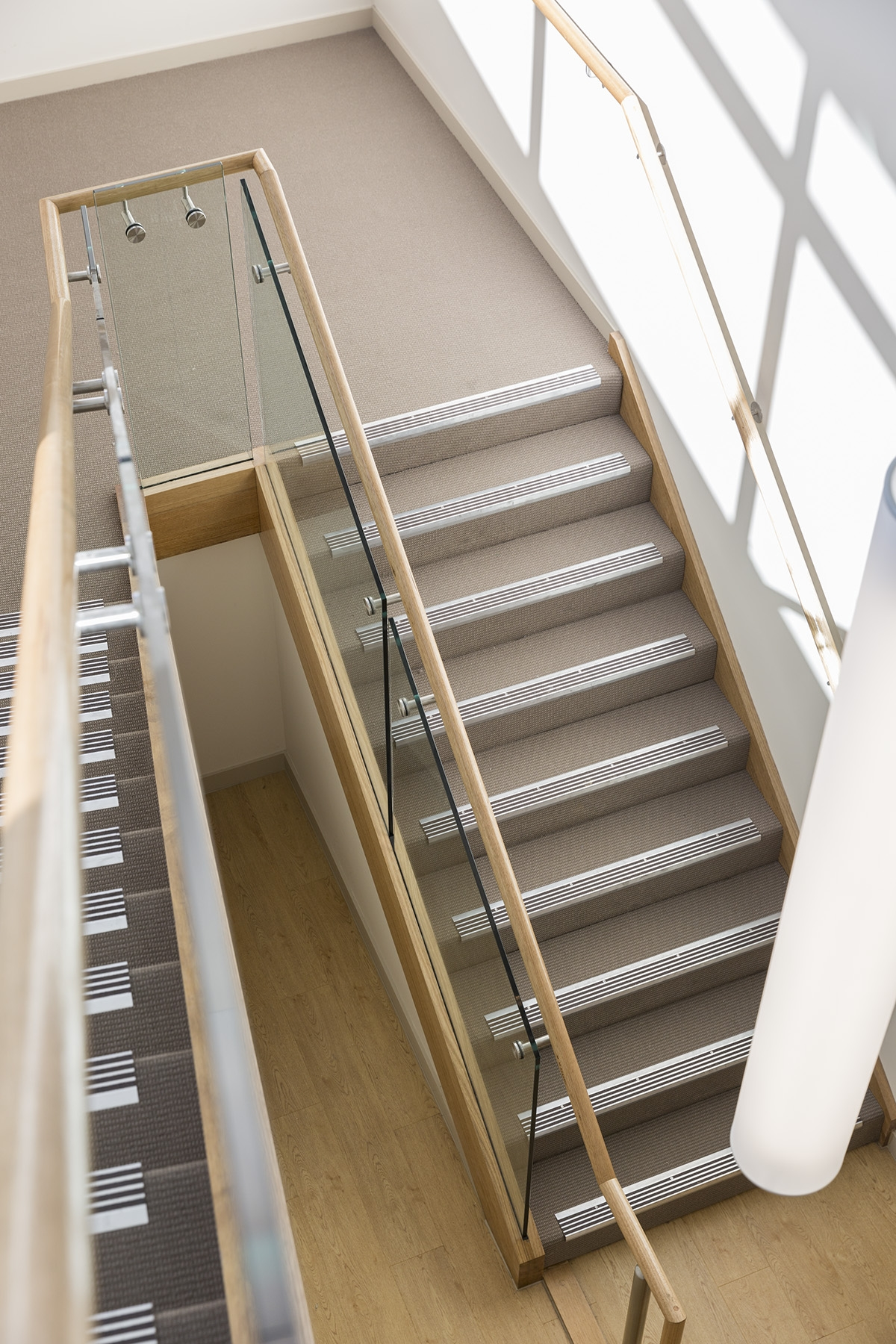 Stair Staircase Commercial Non Slip Treads Tasmanian Oak For Stair Slip Guards (View 9 of 15)