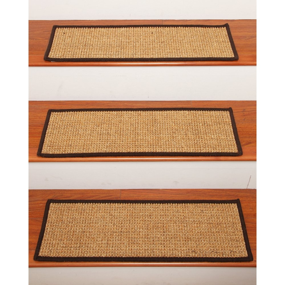 Stair Tread Rug Pads Fold The Cut Rug Pads In Half Preferably With Regard To Braided Stair Tread Rugs (Image 12 of 15)